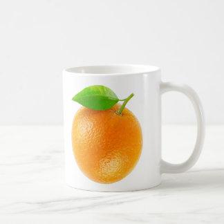 Orange fruit basic white mug
