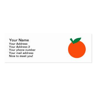 Orange fruit business card template