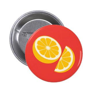 Orange Fruit Button Badge