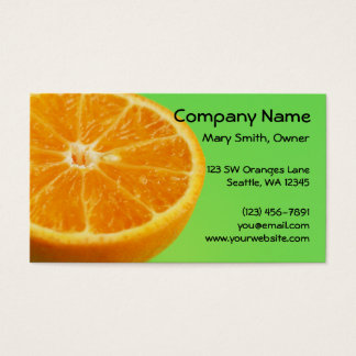 Orange Fruit Half Slice Business Card