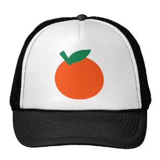 Orange fruit trucker hat