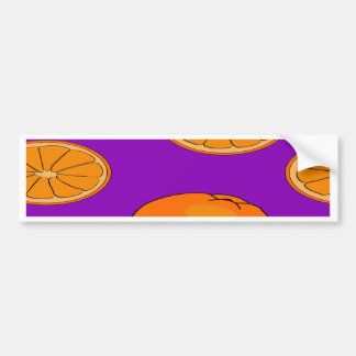 Orange fruit pattern bumper sticker