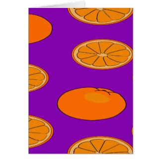 Orange fruit pattern card