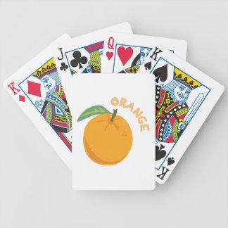 Orange Fruit Poker Deck