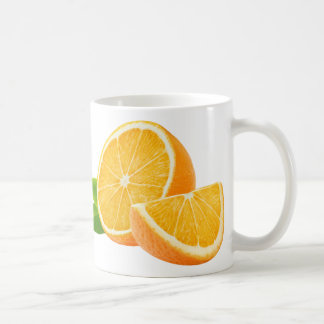 Orange fruits basic white mug