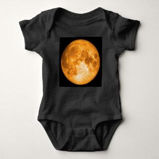 orange full moon baby bodysuit