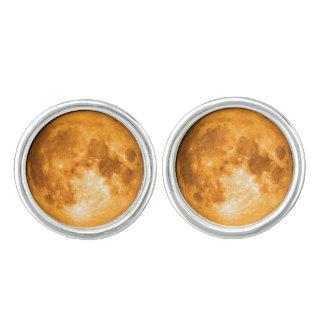 orange full moon cufflinks