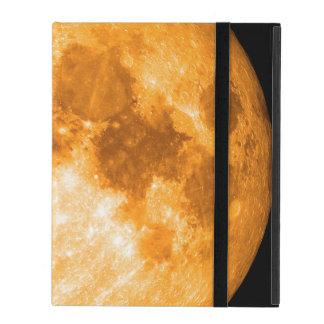 orange full moon iPad cover