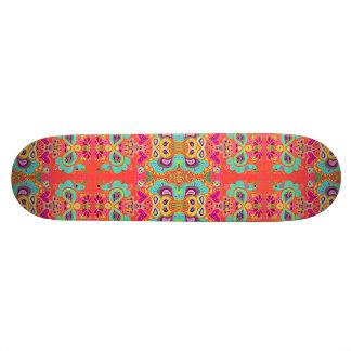 Orange Funky Paisley-Kaledoscope Custom Skateboard