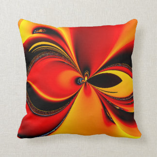 Orange Fury Fractal American Mojo Pillow Throw Cushions