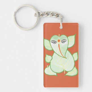 Orange Ganesh Key Chain
