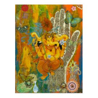 Orange Ganesha Postcard