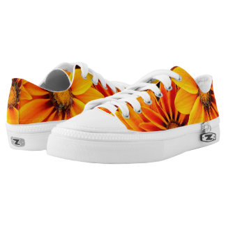 Orange,Garden, Flowers, Printed Shoes