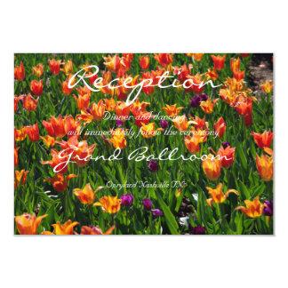 Orange Garden Reception Card