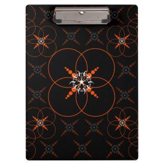 Orange Geometric Clipboard