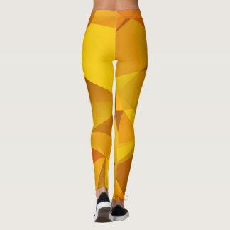 Orange Geometric Leggings