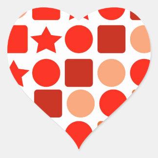 Orange Geometrics Stickers