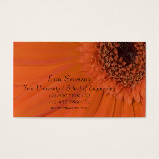 Orange Gerber Daisy Graduate Business Card
