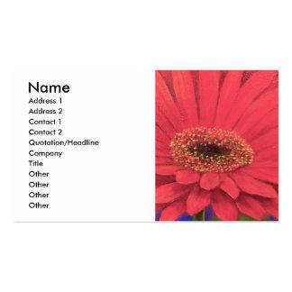 Orange Gerber Flower Painting Art - Multi Business Card Template