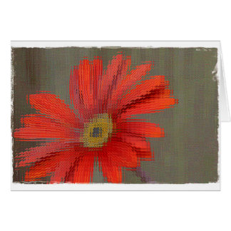 Orange Gerbera blank card