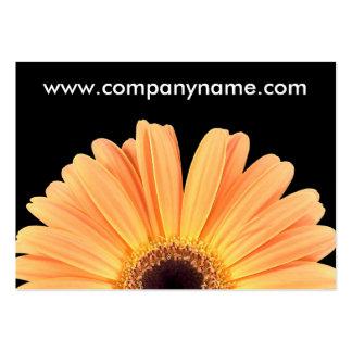 Orange Gerbera Business Card Template
