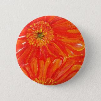 Orange Gerbera Daisies 6 Cm Round Badge