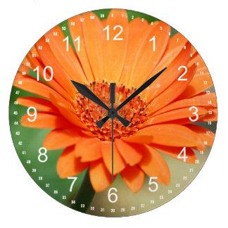 Orange Gerbera Daisy Wall Clock