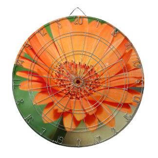 Orange Gerbera Daisy Dartboard