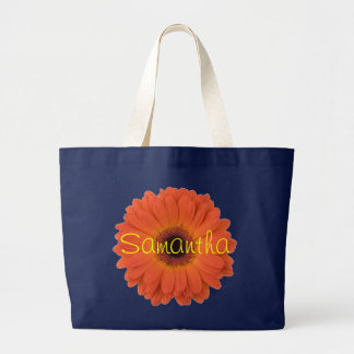 Orange Gerbera Daisy Jumbo Tote Bag