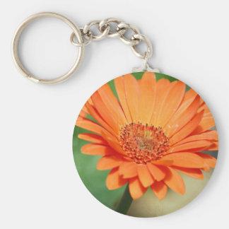 Orange Gerbera Daisy Keychains