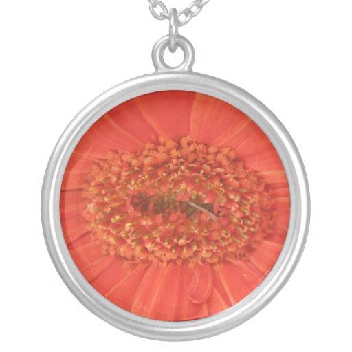 Orange Gerbera Daisy Necklace