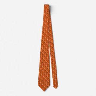 Orange Gerbera Daisy Pattern Tie
