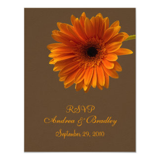 Orange Gerbera Daisy Response Card
