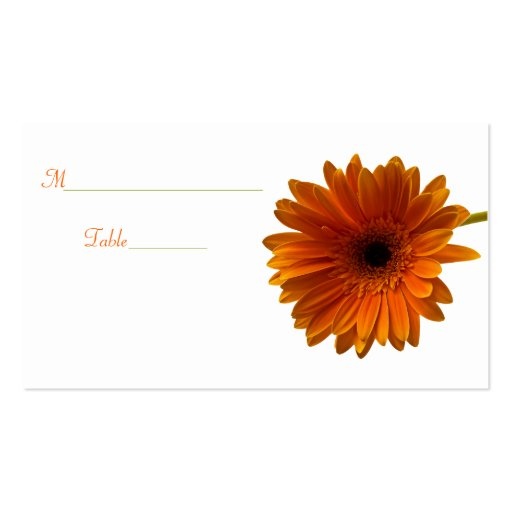 Orange Gerbera Daisy Special Occasion Place Card Business Card