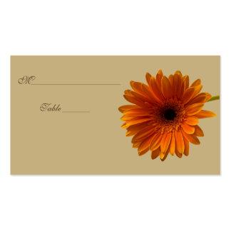 Orange Gerbera Daisy Special Occasion Place Card Business Card Template