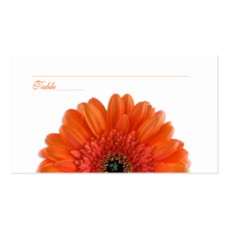 Orange Gerbera Daisy Special Occasion Place Cards Pack Of Standard Business Cards
