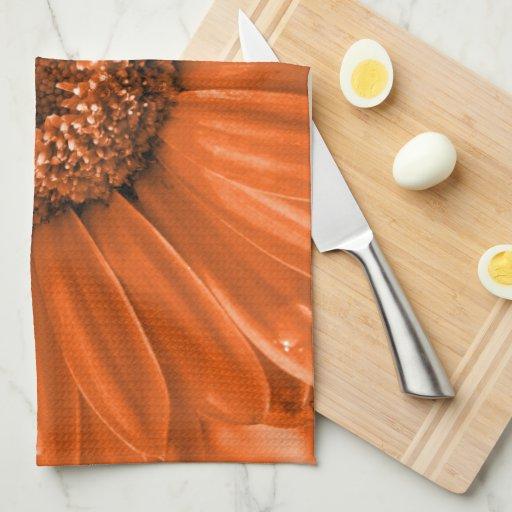 Orange Gerbera Daisy Towels