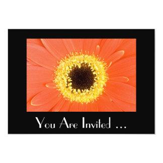"Orange Gerbera Floral Invitation 5"" X 7"" Invitation Card"