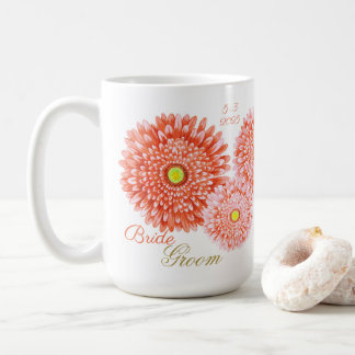 Orange Gerbera Wedding Mug