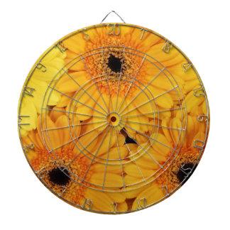 Orange Gerberas Dart Board