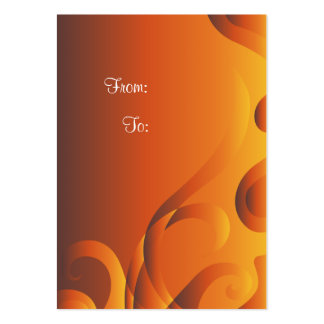 Orange Gift Tag With Curls Pack Of Chubby Business Cards