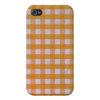Orange Gingham case iPhone 4/4S Cover For iPhone 4