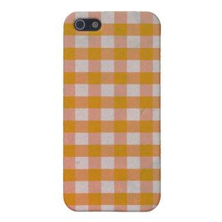 Orange Gingham case iPhone 4/4S iPhone 5 Cases