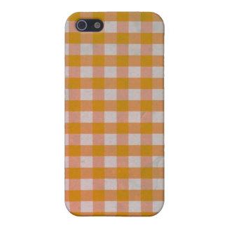 Orange Gingham case iPhone 4/4S iPhone 5 Covers