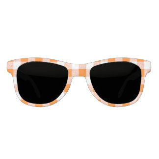 orange gingham check sunglasses