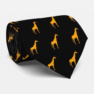 Orange Giraffe on Black Tie