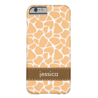 Orange Giraffe Pattern Barely There iPhone 6 Case