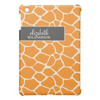 Orange Giraffe Pern iPad Mini Cases