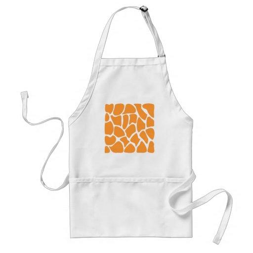 Orange Giraffe Print Pattern. Apron