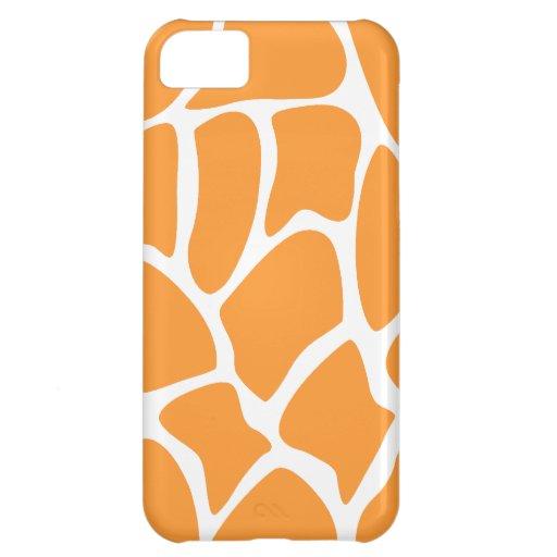 Orange Giraffe Print Pattern. Case For iPhone 5C